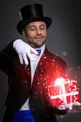 Wall Mural - Magician with magic gift