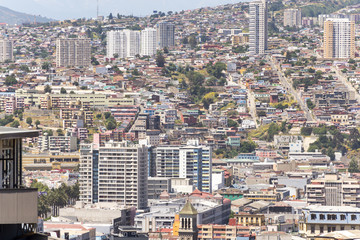 VALPARAISO - NOV 13, 2015: City-scape of Valparaiso, declared a UNESCO World Heritage Site in 2003. Valparaiso, Chile
