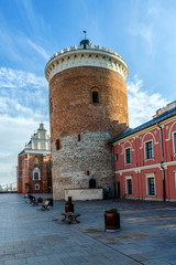 Medieval Royal castle in city center. Lublin, Poland.