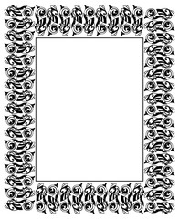 Frame with ornamental fish in medieval style