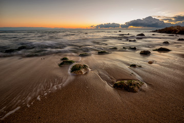 beautiful seascape with stones