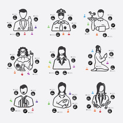 professions infographic