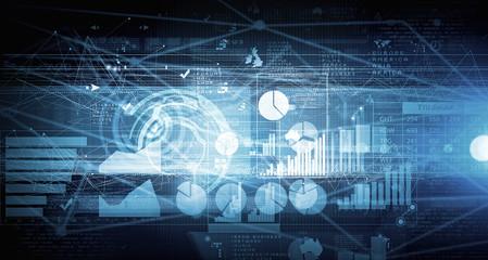 Business digital background