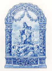 Nossa Senhora do Monte do Carmo tiles, Odivelas, Lisboa, Portugal