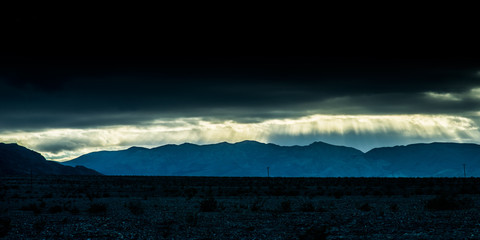 Dramatic Light Near Mesquite Flat Sand Dunes
