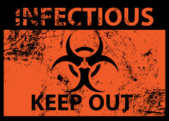 Biohazard Infectious Poster and Grunge Texture