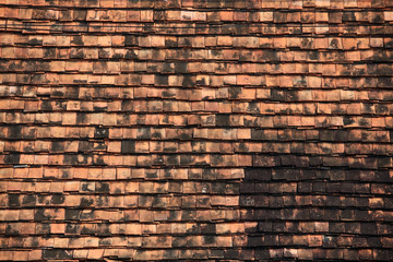 temple roof tile.