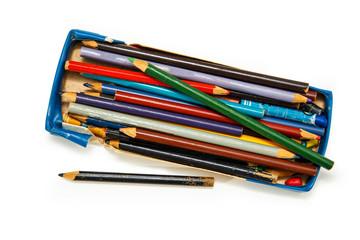 Color pencils in a box