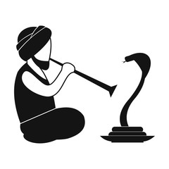 Snake-charmer simple icon