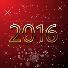 Happy New Year and Merry Christmas 2016 greeting card. Vector EP