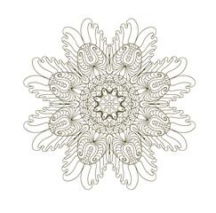 Mandala. Round pattern. Vintage decorative elements. Hand drawn background. Islam, Arabic, Indian, ottoman motifs.