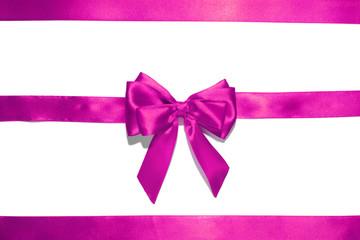 Purple  ribbon and bow