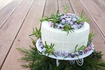 Homemade Sparkling Cranberry White Chocolate Cake