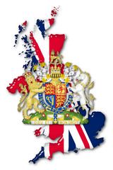 Great Britain Volume 3d Flag and Coat of arms