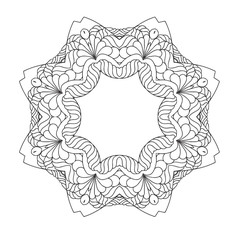 Mandala  Round Ornament Pattern. Hand drawn background.