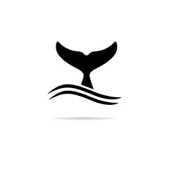 Whale tail icon.