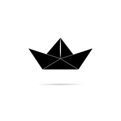 Icon, silhouette of a paper boat.