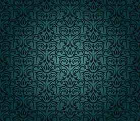 Vintage floral background pattern.