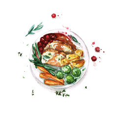 Meal - Watercolor Food Collection