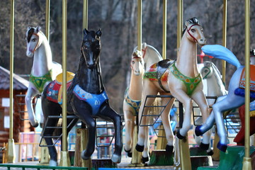 Carousel with horses in City Park