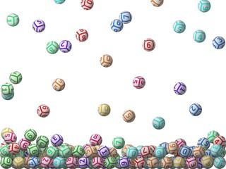 3d lottery balls rain.