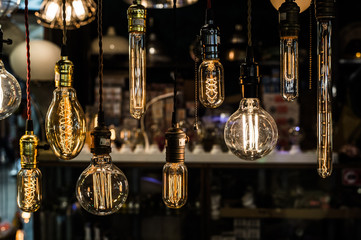 Old vintage light bulb