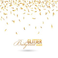 Fallen Golden Glitter or Confetti Background