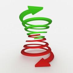 Photo sur Plexiglas Spirale Arrows in different directions