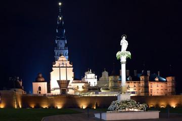 Poster Monument The Jasna Góra Monastery in Częstochowa, Poland