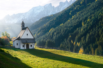 old church in the mountains