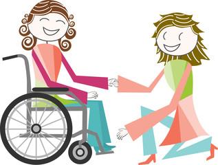 Handicap et fauteuil roulant
