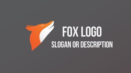 Fox Modern Logo - Isolated Illustration
