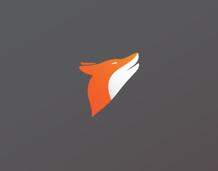 Fox Logo Icon on Backgrond - Isolated Illustration