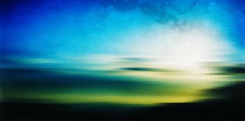 Horizontal vintage Greece sunrise landscape abstraction film sca