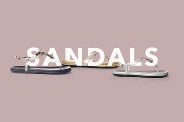 Sandals cover design