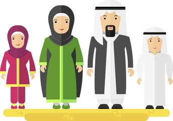 arabian_family_man_women_children