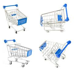 Shopping carts isolated on white background. Shopping carts set