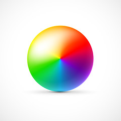 colorful 3d ball, on white background