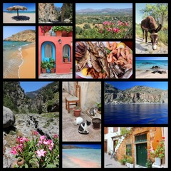 Crete - travel photos collage