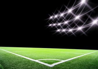 lights at night and big soccer stadium
