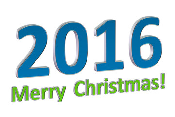 Merry Cristmas 2016 concept