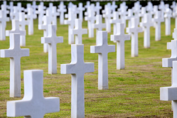 NETTUNO - April 06: Tombs, American war cemetery of the American