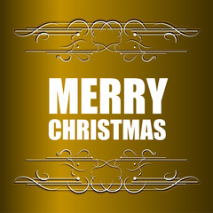 Merry Christmas message and abstract vintage grunge background. Vector illustration