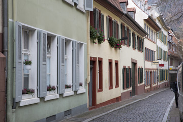 Street with old houses