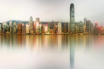 Garden Poster Abu Dhabi Panorama of Hong Kong and Financial district
