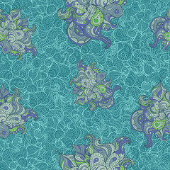 Vector doodle abstract pattern