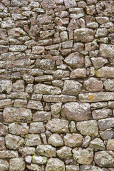 Inca wall made of stones in the Sacred Valley, Peru