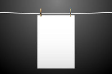 Vertically hanging paper