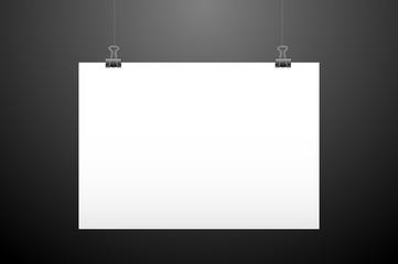 Horizontal hanging paper