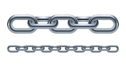 Metal chain links